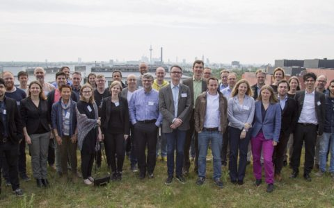 Group picture from the Kick-off Meeting on the FIAS roof top terrace on 03.05.2018. Source: Patricia Till, FIAS